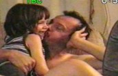 daddy kisses karli
